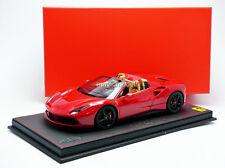 BBR 2015 Ferrari 488 GTB Spider Rosso Corsa 322  P18120B LE of 288 1/18 New!