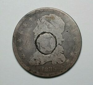 1835 US Capped Bust Silver Quarter - 183726A