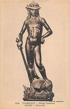 BR70947 firenze postcard sculpture italy david donatello musee national