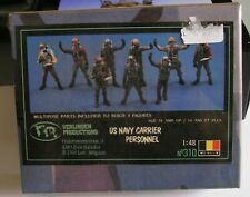 VERLINDEN 310 - 1/48 - US NAVY CARRIER PERSONNEL - RESIN - 3 FIGURES - SEALED