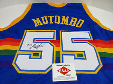 Dikembe Mutombo signed Nuggets Jersey / 8× NBA All-Star / #55 Retired by Denver