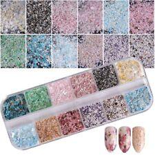 Arte de uñas Glitter Polvo lentejuelas  acrílico GEL decoración Manicura