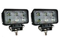 2 StückLED-Arbeitsscheinwerfer rechteckig, funkentstört 1.100 lm. 10-30 V 6 LEDs