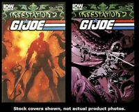 Infestation 2: G.I. Joe 1/B 2/A IDW 2012 Complete Set Run Lot 1/B-2/A VF/NM