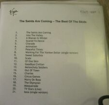 The Best Of THE SKIDS The Saints Are Coming Virgin PROMO CD freeUKpost