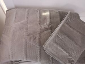 "2 X Kelly Hoppen QVC Pillow Shams Taupe 29"" x 19"""