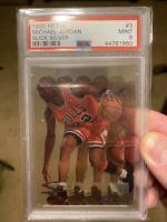 Michael Jordan 1995-96 Fleer Metal Slick Silver #3 PSA 9 MINT Chicago Bulls