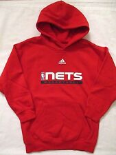 NJ New Jersey Nets Basketball Adidas Red Hoodie Boys Size 8