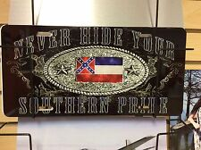 Confederate  Mississippi State,Novelty  Vanity License Plate, This May Be Pulled