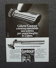 [GCG] H261- Advertising Pubblicità -1974- GILLETTE CONTOUR A TESTINA SNODABILE