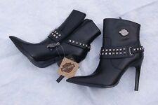 Harley Davidson Women Motocycle Ankle Boots Twila black 7.5
