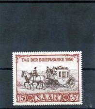 Saar Sc B76(Yt 270)*Vf Nh 1950 15F+5F Red Brown & Brown Lilac $180