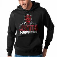 Sith Happens Star Wars Satire Parodie Darth Maul Fun Kapuzenpullover Hoodie
