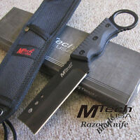 "The ""RAZOR"" Blade TACTICAL KNIFE w/MOLLE Compatible Sheath -Hunting Combat MTech"