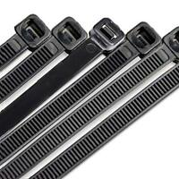 """36"""" Inch  Black Cable Ties -Industrial-175# Tensile Strength-10 Pieces"""