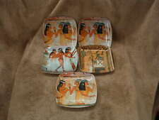 Excellent Condition Egyptian Set Of 5 Serving Tray Platters For Hors D'Oeuvres
