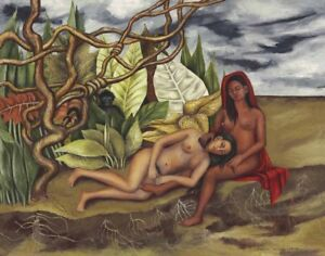 Frida Kahlo Two Nudes Canvas Print 16 x 20   #3447