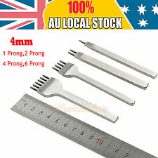 4mm Prong Diamond Chisel Pre Stitching Leather Punch Hole Craft Working Tool Set