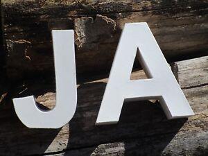 XXL BUCHSTABE 3D Buchstaben groß bemalbar ALPHABET Shabby Vintage zur Auswahl