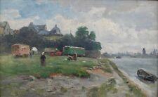 Fahrendes Volk bei Mainz,Philipp Zeltner,Impressionist um 1900