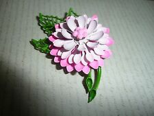 RETRO/VINTAGE CARNATION DHALIA FLOWER BROOCH CORSAGE  1940- 1960'S