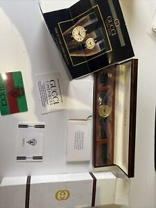 Gucci Ladies Watch American Express Edition New In Box VINTAGE never used