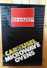 vTg Sharp Advertising Banner Appliance Store Microwave Display Dealer Sign Usa