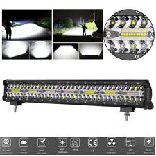 "High Power 420W 20"" 140 LED Flood Work Light Bar Offroad Fog Driving Lamp IP68"