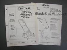 1988 Sears Craftsman Electr Lawn Mower Manual Models C955 35900-9 C955 35921-9