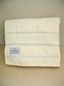 "Traditional vintage woollen blanket 72"" x 90""   Warm  Blanket stitched ends"