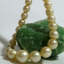 585 / 14k Oro Blanco Oro cierre de Joyería Perla perlas cadena 45cm