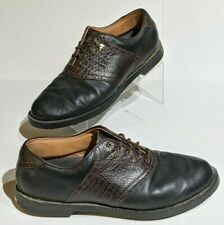Adidas Men's Adiprene Alligator Embossed Golf Shoes Size 11.5 Black / Brown