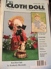 THE CLOTH DOLL Summer 1995 Vol 10 No 4, cloth art doll patterns~how to magazine