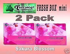 2 Pack Treefrog Fresh Box Mini SAKURA BLOSSOM Scent Car Air Freshener JDM Produc