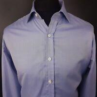 Polo Ralph Lauren Mens Formal Shirt 16.5 XL Long Sleeve Blue Custom Fit  Cotton