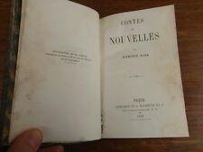ALPHONSE KARR / CONTES ET NOUVELLES Hachette 1856