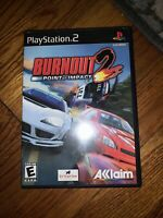 Burnout 2: Point of Impact PS2 Sony PlayStation 2 Game COMPLETE w/ Manual & Case
