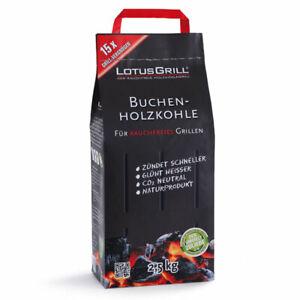 LotusGrill Buchen Holzkohle 2,5 kg für rauchfreies Grillen