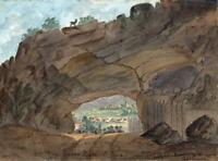 PIERRE PERTUIS JURA TAVANNES SWITZERLAND Watercolour Painting E CAMPBELL 1831