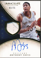 2013-14 Immaculate Collection #183 Anthony Davis Auto Jsy /75
