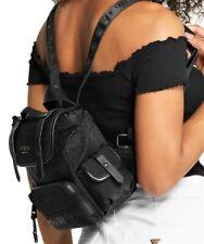 NWT GUESS KACEE BACKPACK BAG Black Faux Leather Logo Handbag GENUINE