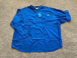 Columbia PFG Bonehead long sleeve button fishing shirt 5XLT