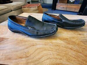 Steve Madden Novo Black Leather Casual Slip On Driving Loafers Shoes Men's 10.5