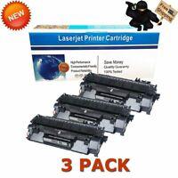 3 Pack CE505A 05A Toner Cartridge for HP LaserJet P2035 P2035n P2055dn Printer