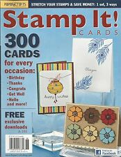 Stamp It magazine Card ideas Birthday Christmas Thanks Get well Congratulations