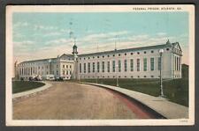 1935 Federal Prison Atlanta GA post card detained here message to Morristown NJ