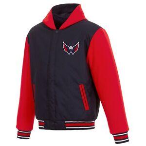 NHL Washington Capitals  JH Design Two Tone Reversible Fleece Hooded Jacket