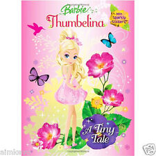 Golden Books Barbie Thumbelina A Tiny Tale 48 Page Sticker & Coloring Book