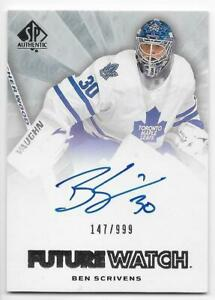 11/12 SP AUTHENTIC FUTURE WATCH AUTOGRAPH RC /999 (#221-280) U-Pick From List