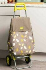 Lightweight Shopping Trolley Travel Luggage Outdoor Insulated Storage Bag Leaf